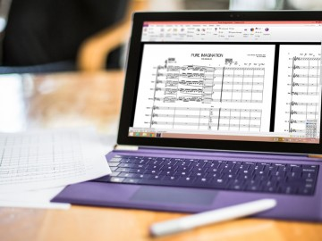 Editing and Annotation in the new Sibelius on a Microsoft Surface Pro 3