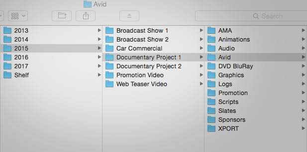 Create a Media Composer Project Structure that Will Last for Years
