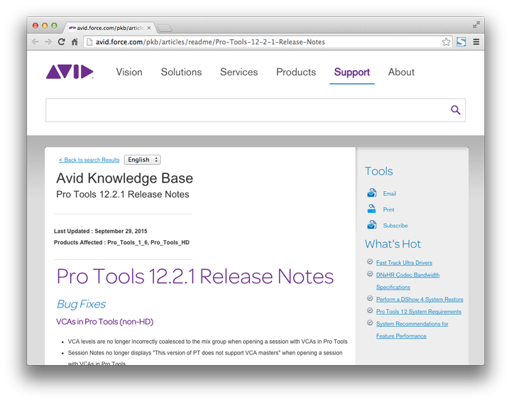 Pro Tools 12.2.1 Release Notes