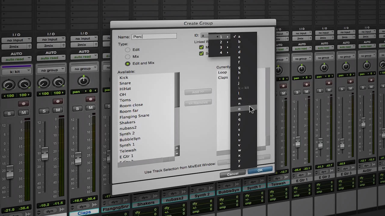 Organize large pro tools sessions with track groups baditri Choice Image