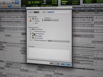Keep Track of Your Placement in a Pro Tools Session with Memory Locations