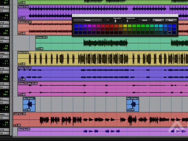 Tutorial de Pro Tools pela ProClass – Track Color, Track Groups e Markers