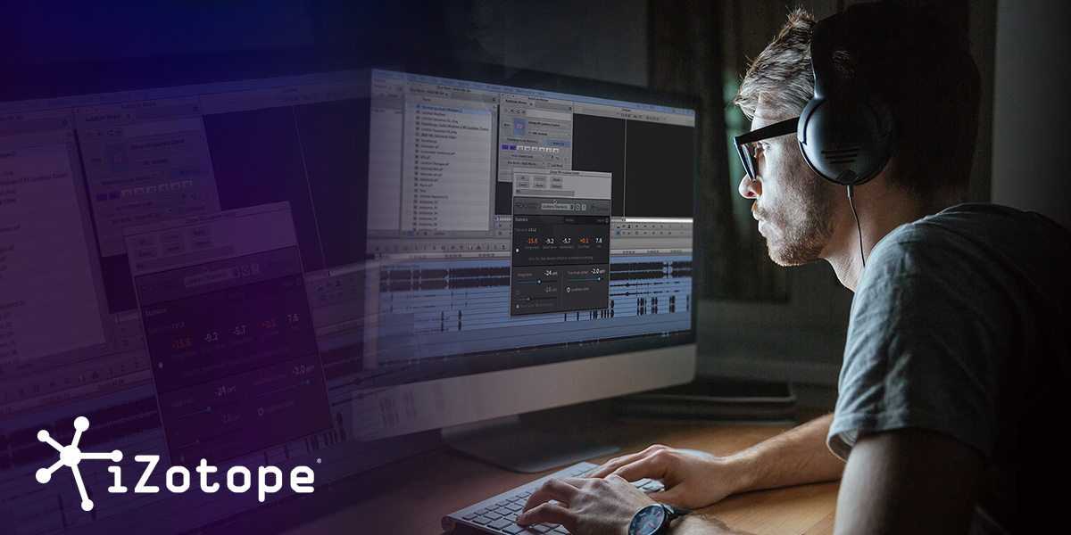 Get iZotope audio plug-ins free with Media Composer