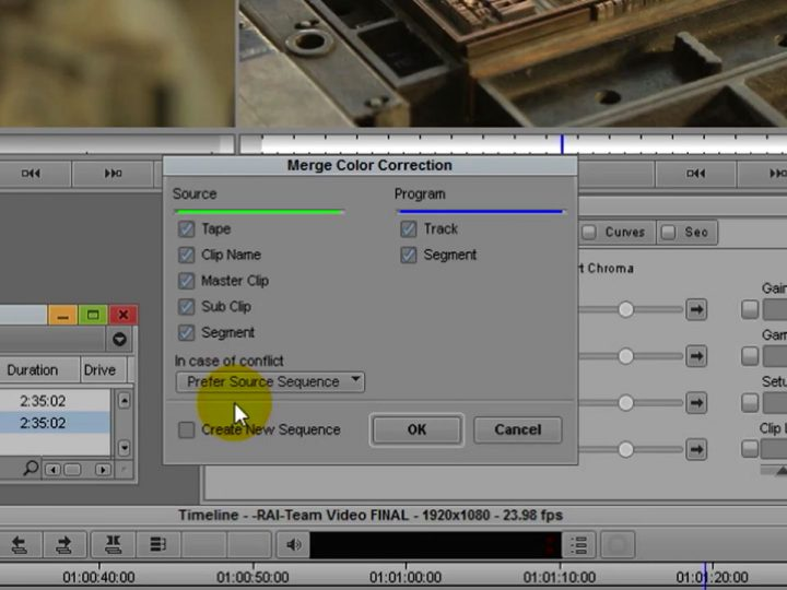 Remove and Merge Color Correction in Avid Media Composer with the Symphony Option