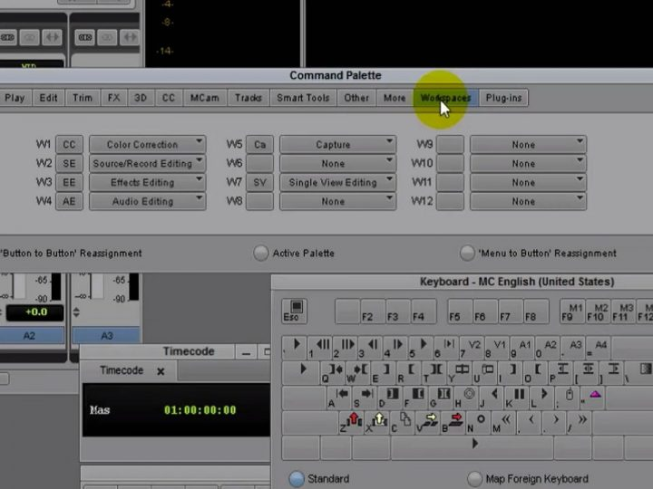 Create Custom Workspaces and Map Them to Your Keyboard in Avid Media Composer