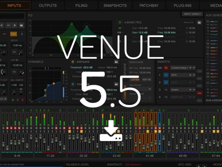 What's New in VENUE 5.5 Software for S6L