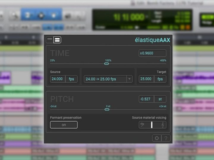 zplane élastiqueAAX — Integrated Time Compression / Expansion for Avid Pro Tools