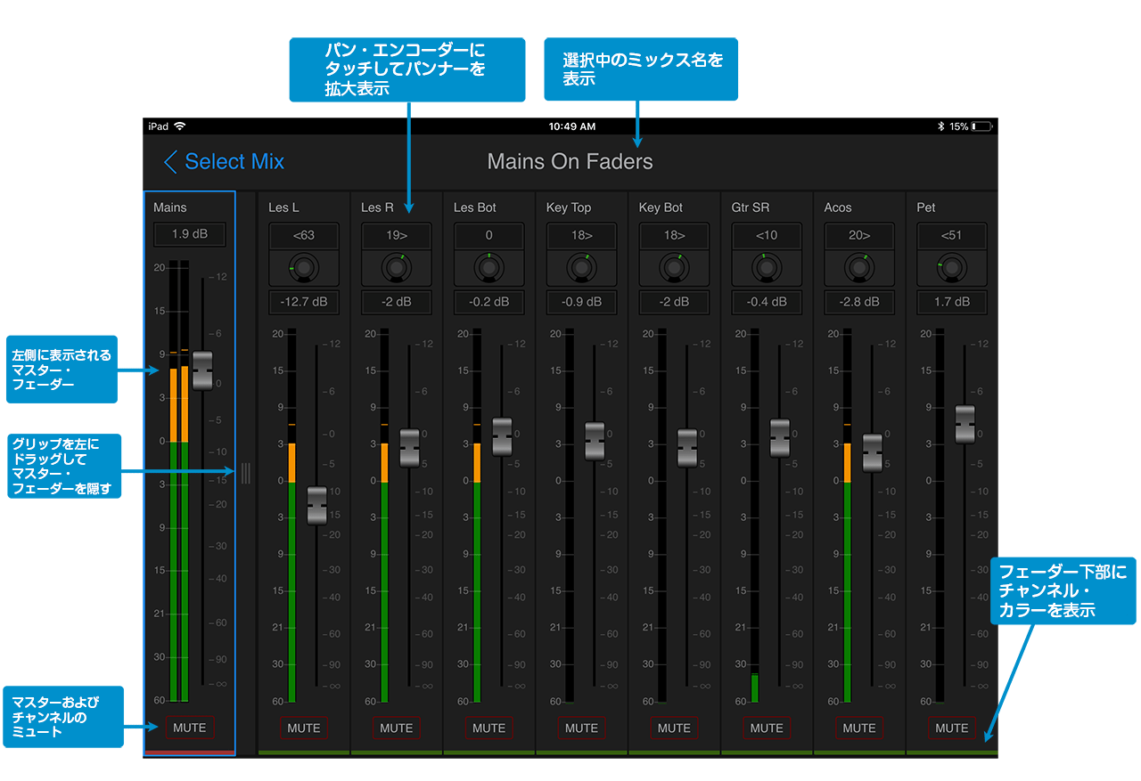 VENUE | On-Stage Personal Monitor Mixing iOSアプリ