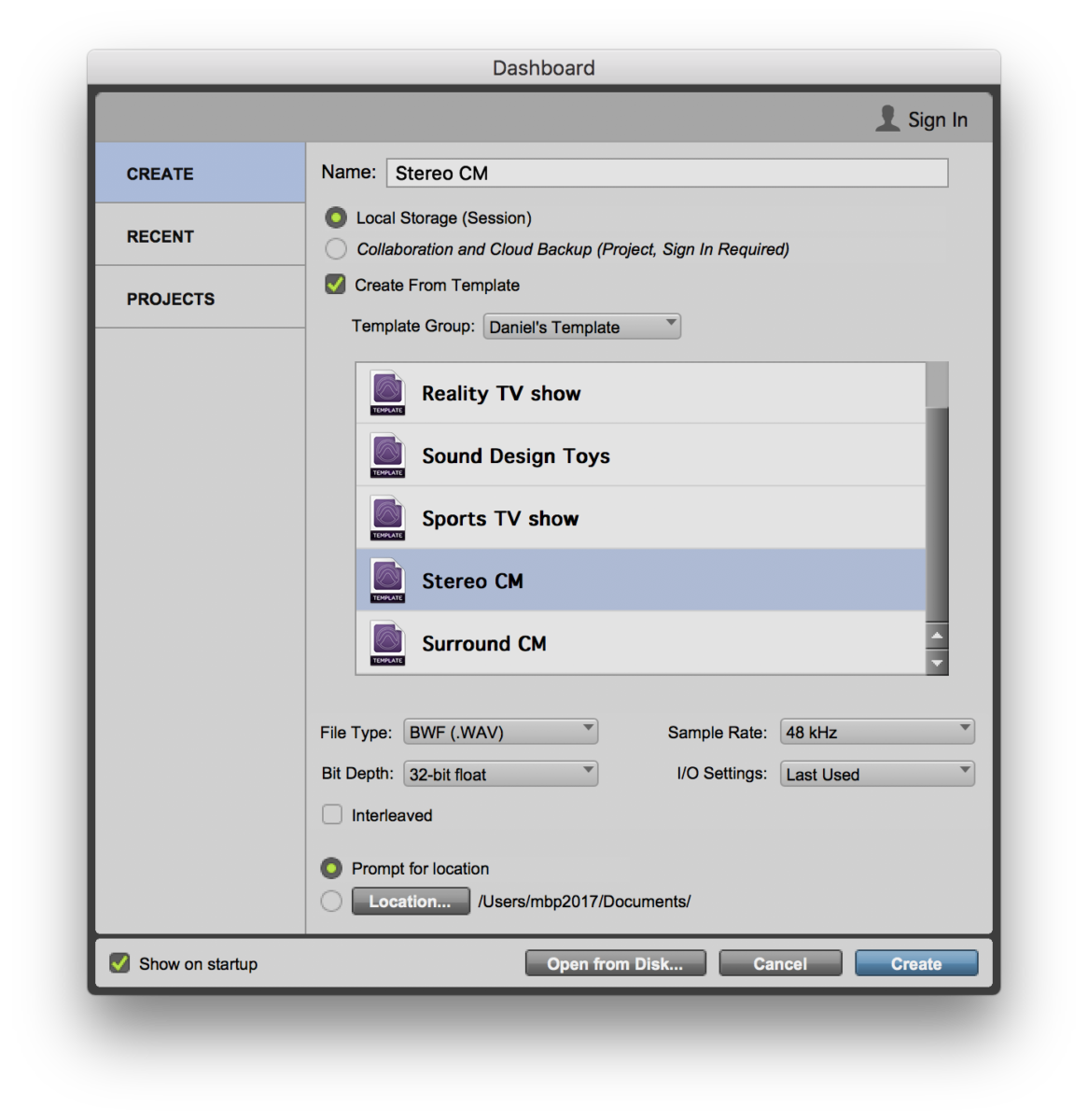 Pro Tools: Track Presets for Audio Post — Sub-Templates