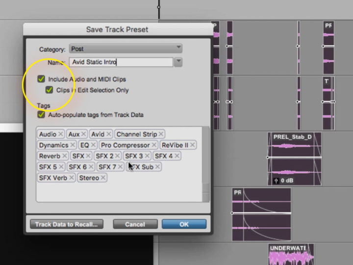 Pro Tools: Track Presets for Audio Post – Embedded Media