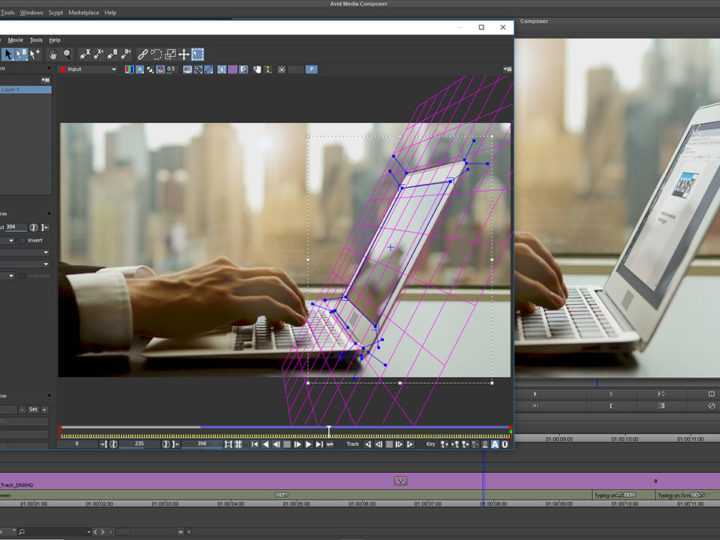 Planar Motion Tracking and Screen Replacements in Avid Media Composer