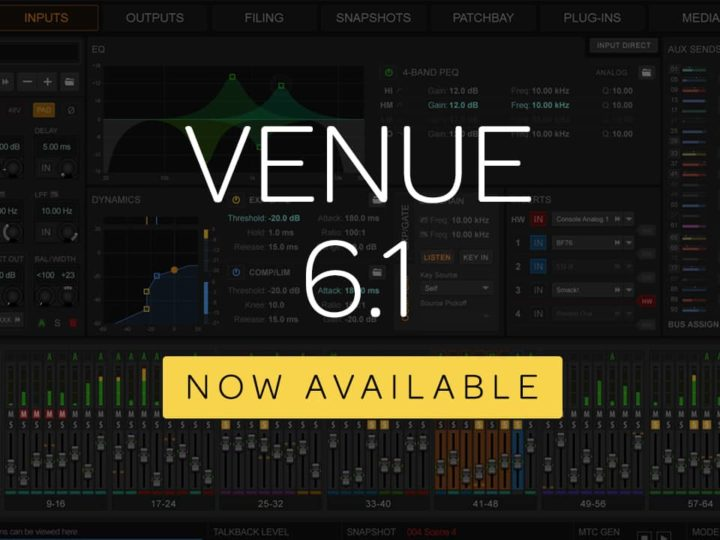 S6L-16C, VENUE 6.1, and New Function Pad iOS App Now Available