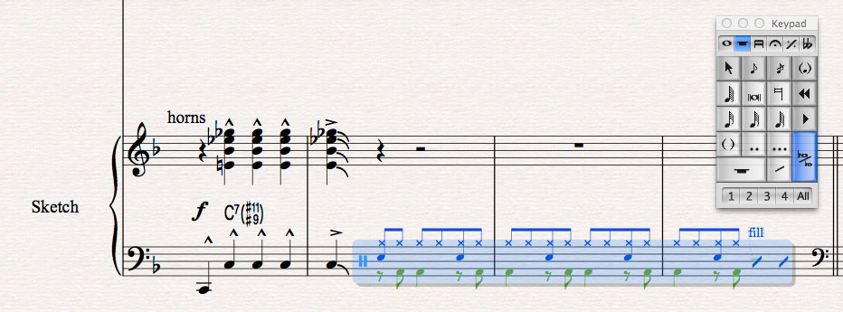 Sketching in Sibelius 7.5: Filling in the Details