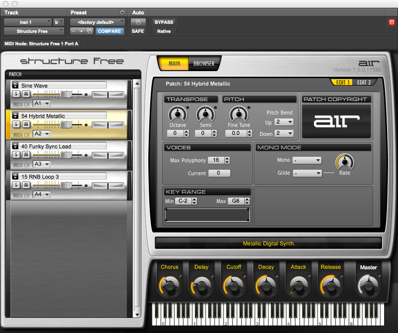 Pro Tools Virtual Instruments Included for Music