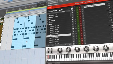 Drag in MIDI Patterns from IK Multimedia SampleTank 3 to Pro Tools 11 and Edit with Ease