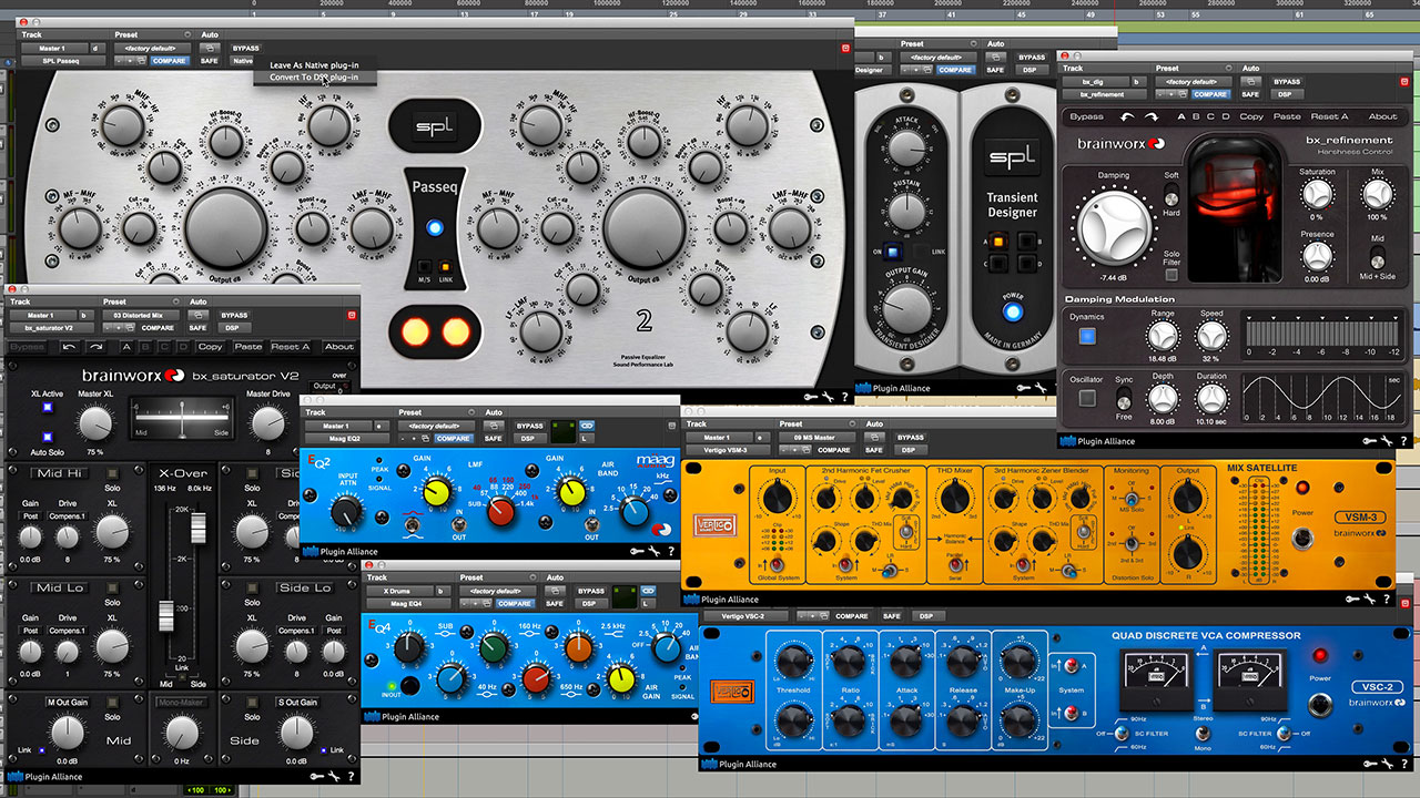 18 New Plugin Alliance AAX DSP Plug-ins for Pro Tools   HDX