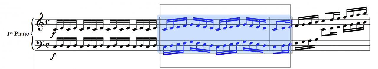 Drawing a selection box in Sibelius
