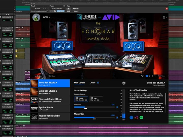 Embody and Avid Revolutionize Mixing & Mastering  on Headphones with Immerse Virtual Studio Plugin