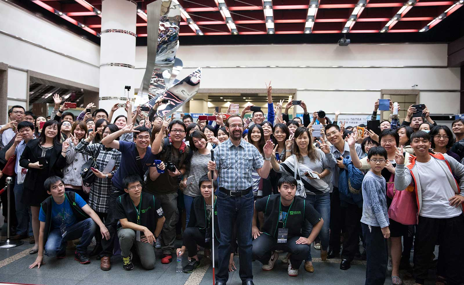 Me with my fans at a recent Taipei concert at the Taiwan International Convention Center.